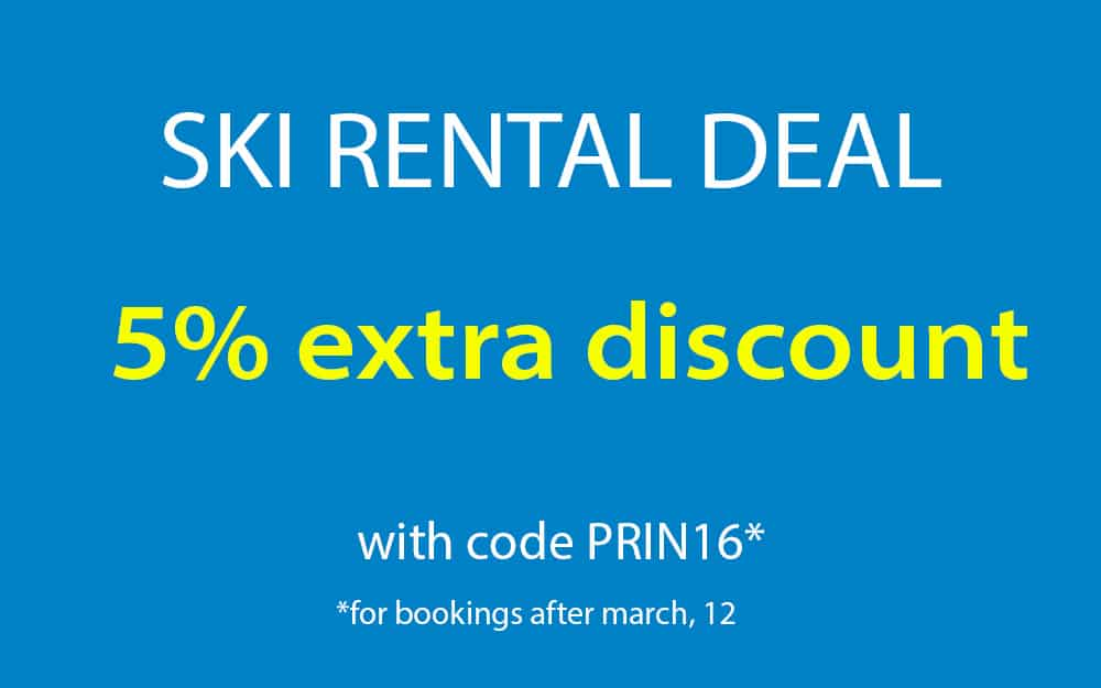 special discount ski rental spring 2016