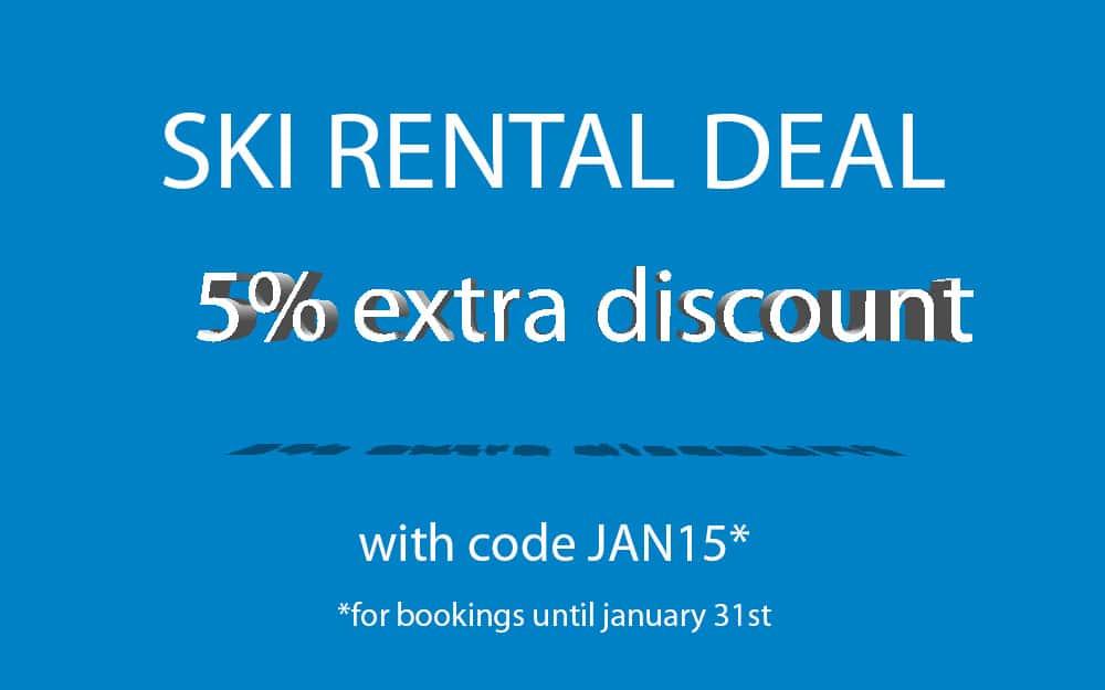 Ski rental special offer